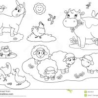 Farm Animals Coloring Thebooks Desktop Page Domestic Animals For Printable Mobile High Quality