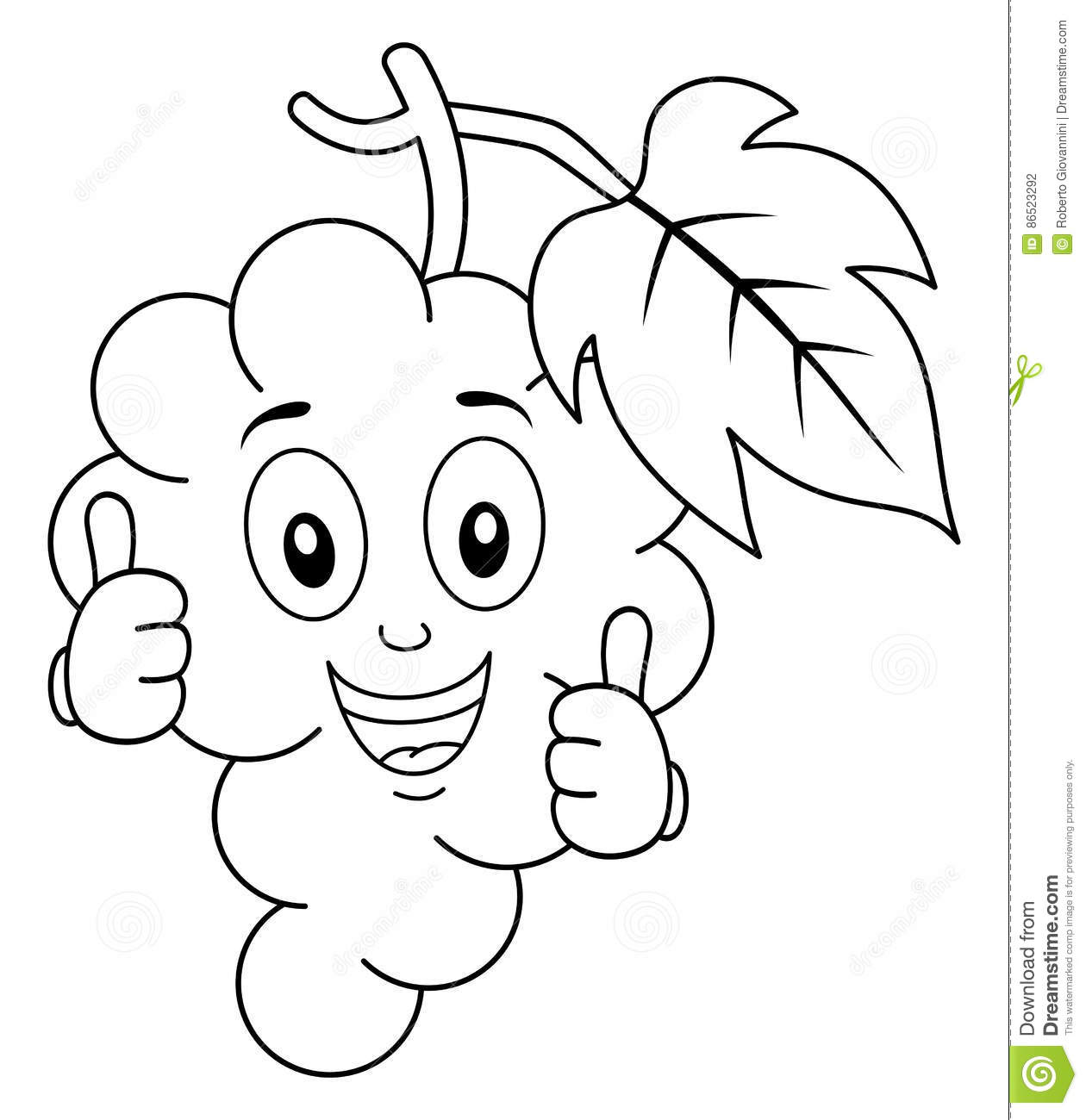 Coloring G S Character With Thumbs Up Stock Vector