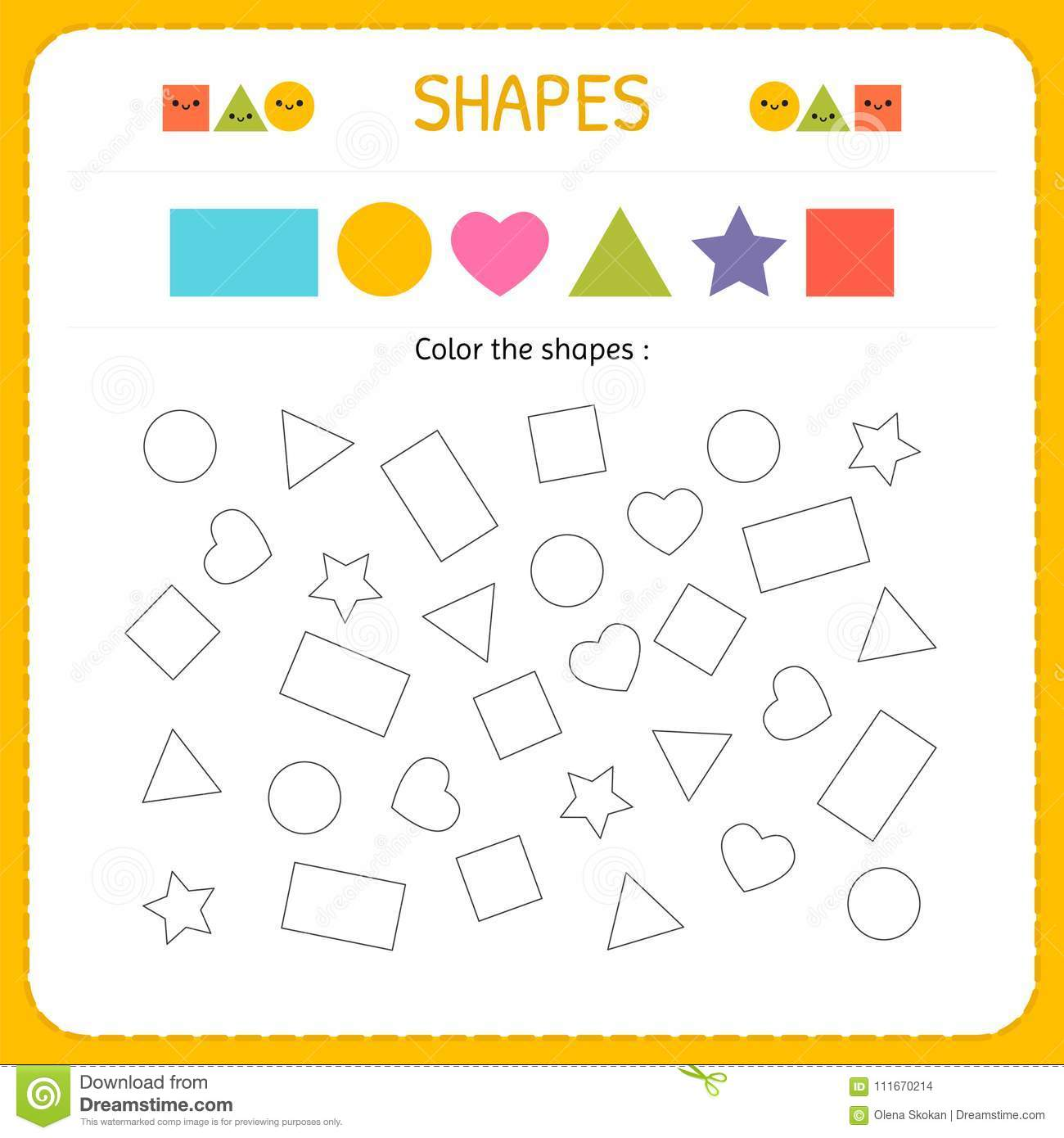 Coloring Multiple Shapes Learn Shapes And Geometric