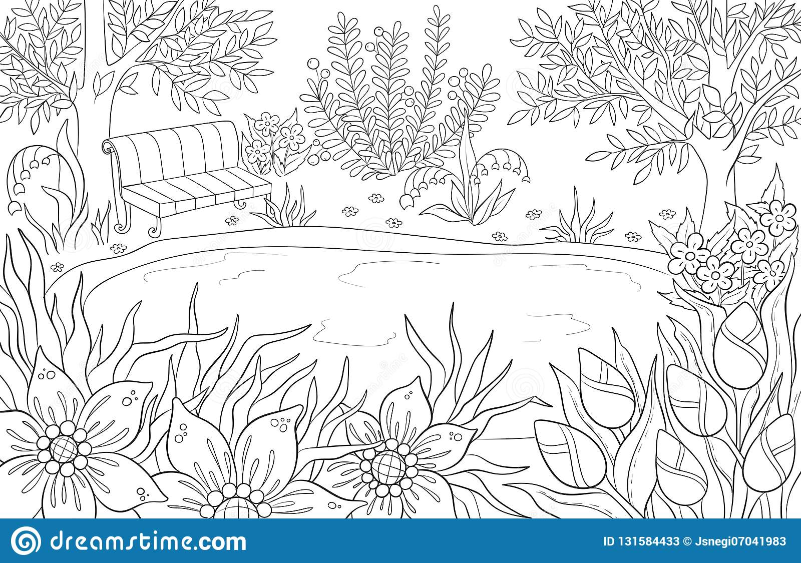 Coloring Page For Adult And Kids Coloring Book Or Bullet