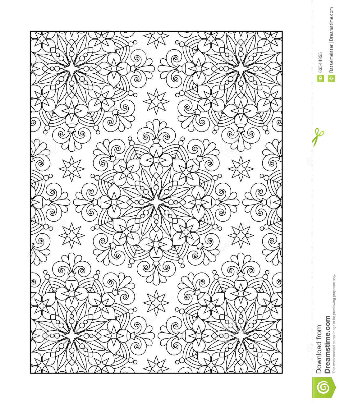 Coloring Page For Adults Or Black And White Ornamental