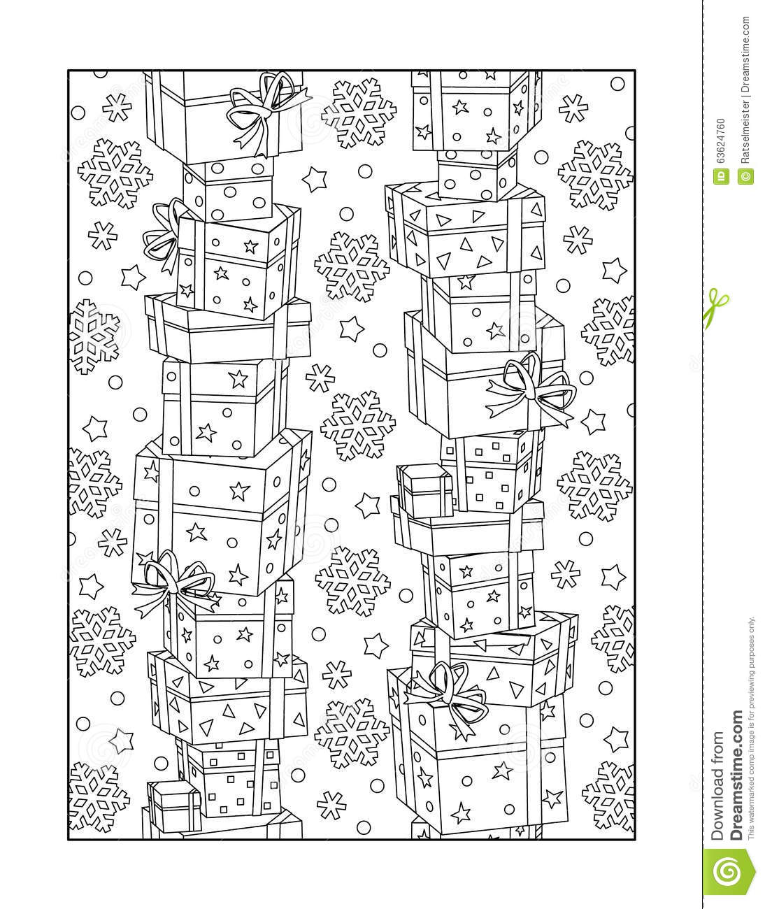 Coloring Page For Adults, Or Black And White Ornamental