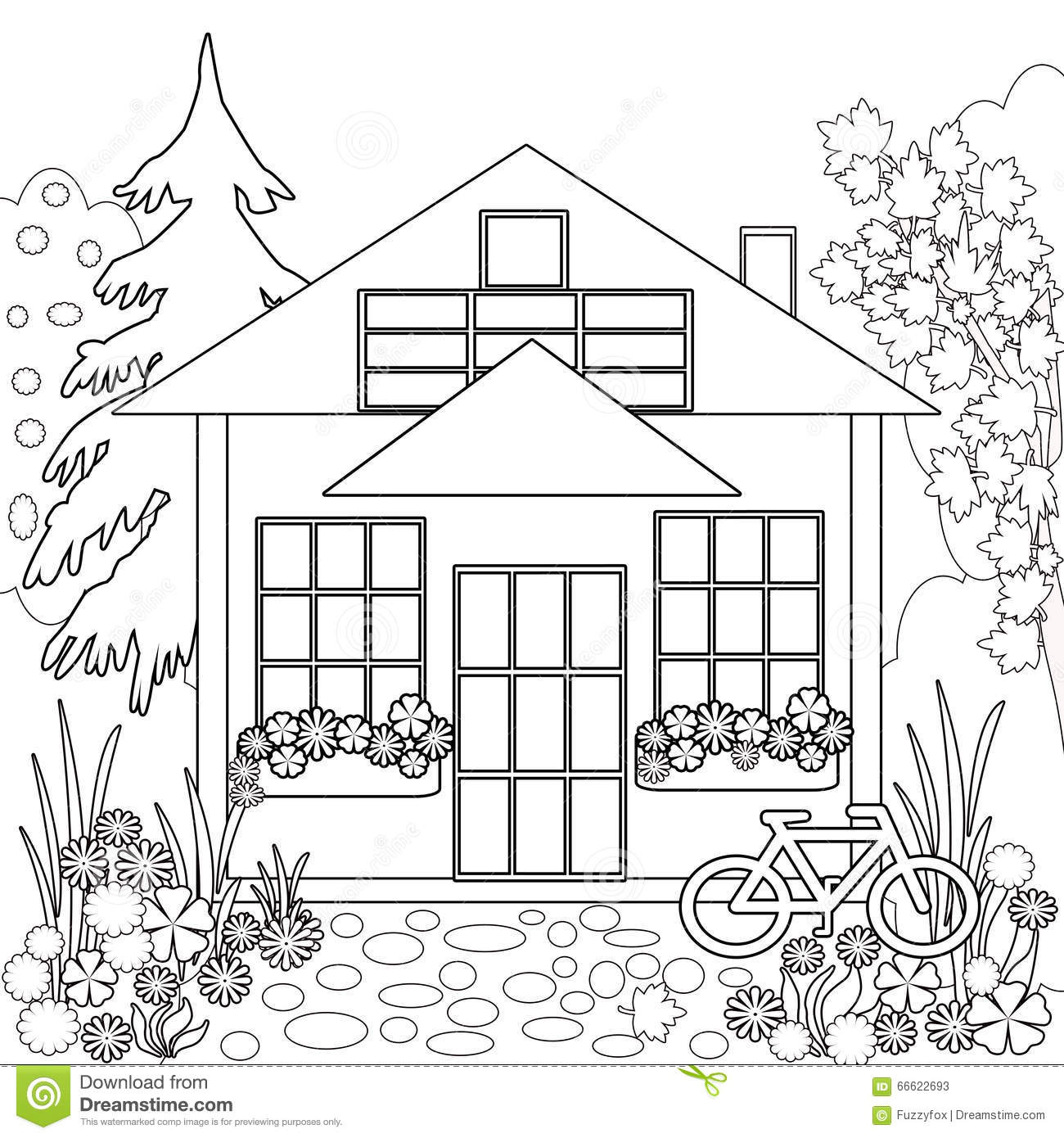 Drawing Pictures Of House With Garden