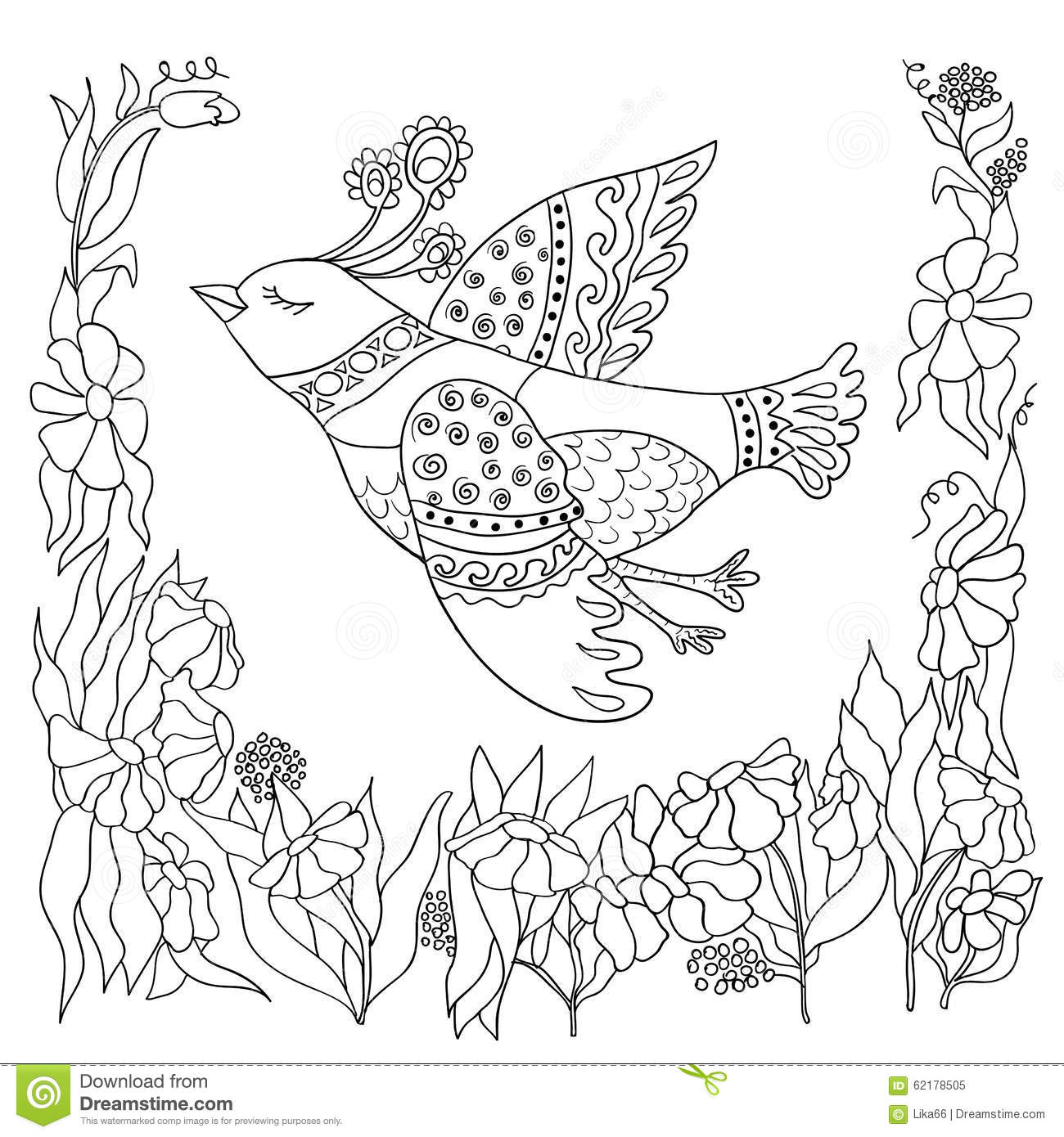 Coloring Page With Doodle Design Stock Vector