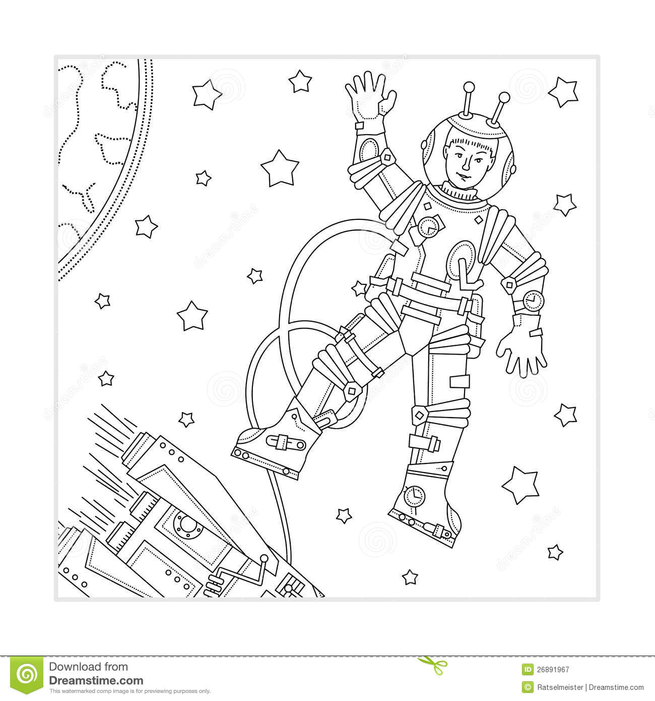 Coloring page for kids stock vector. Illustration of