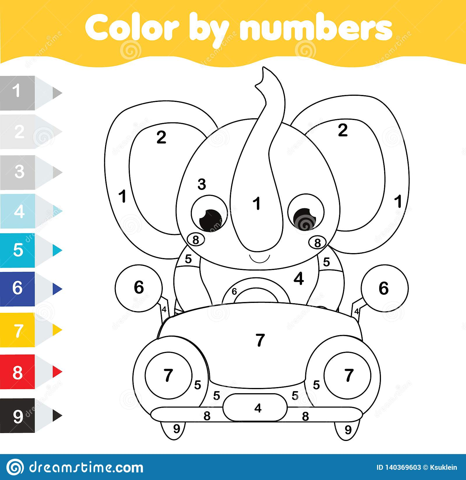 Coloring Page For Kids Educational Children Game Color