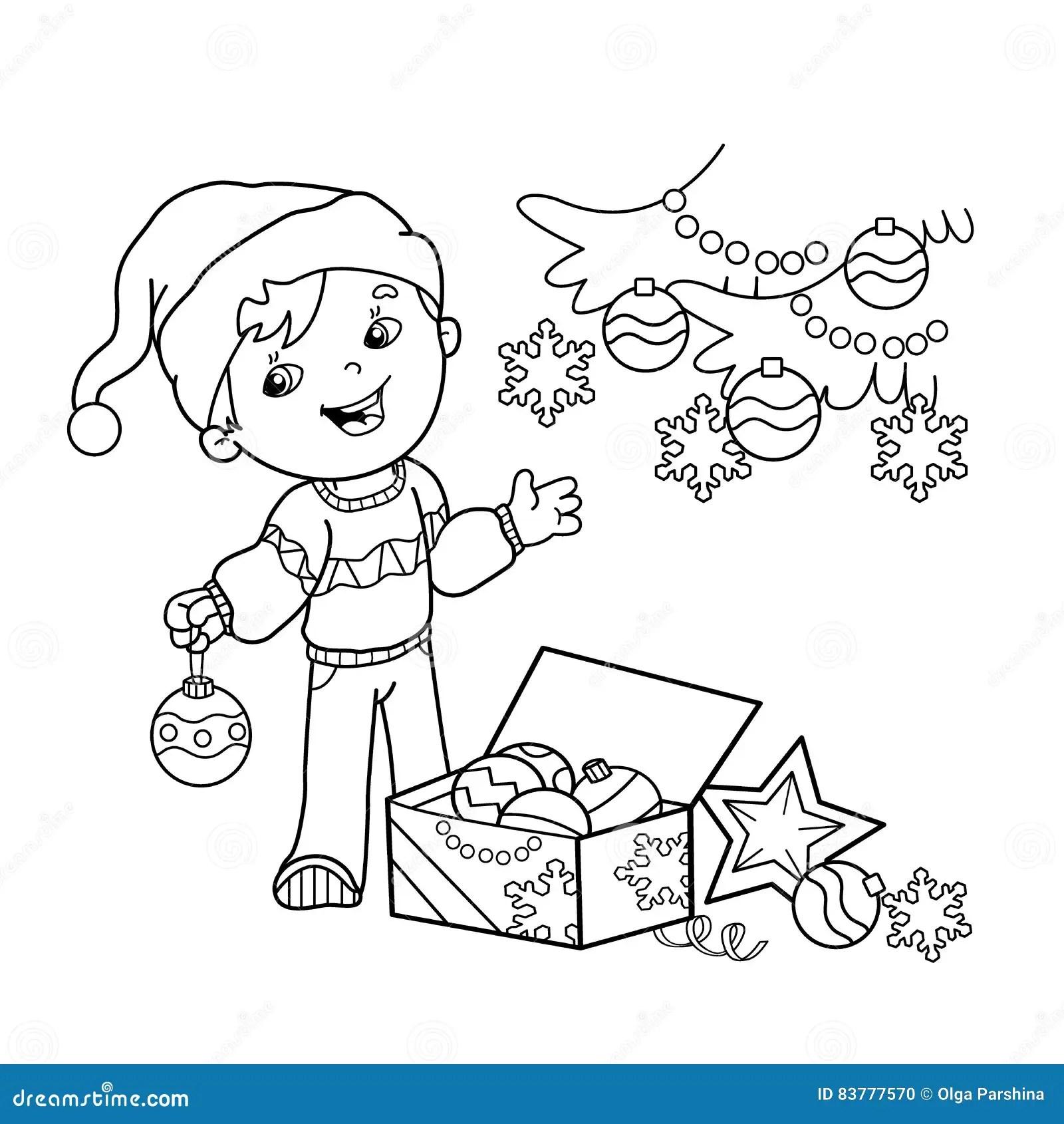 l coloring christmas tree garland