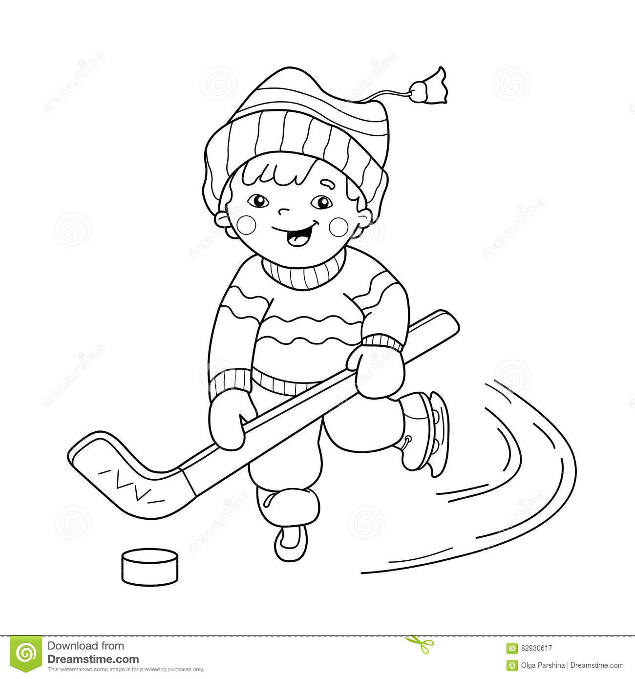 School Boy Playing In Forest At Winter Stock Photography