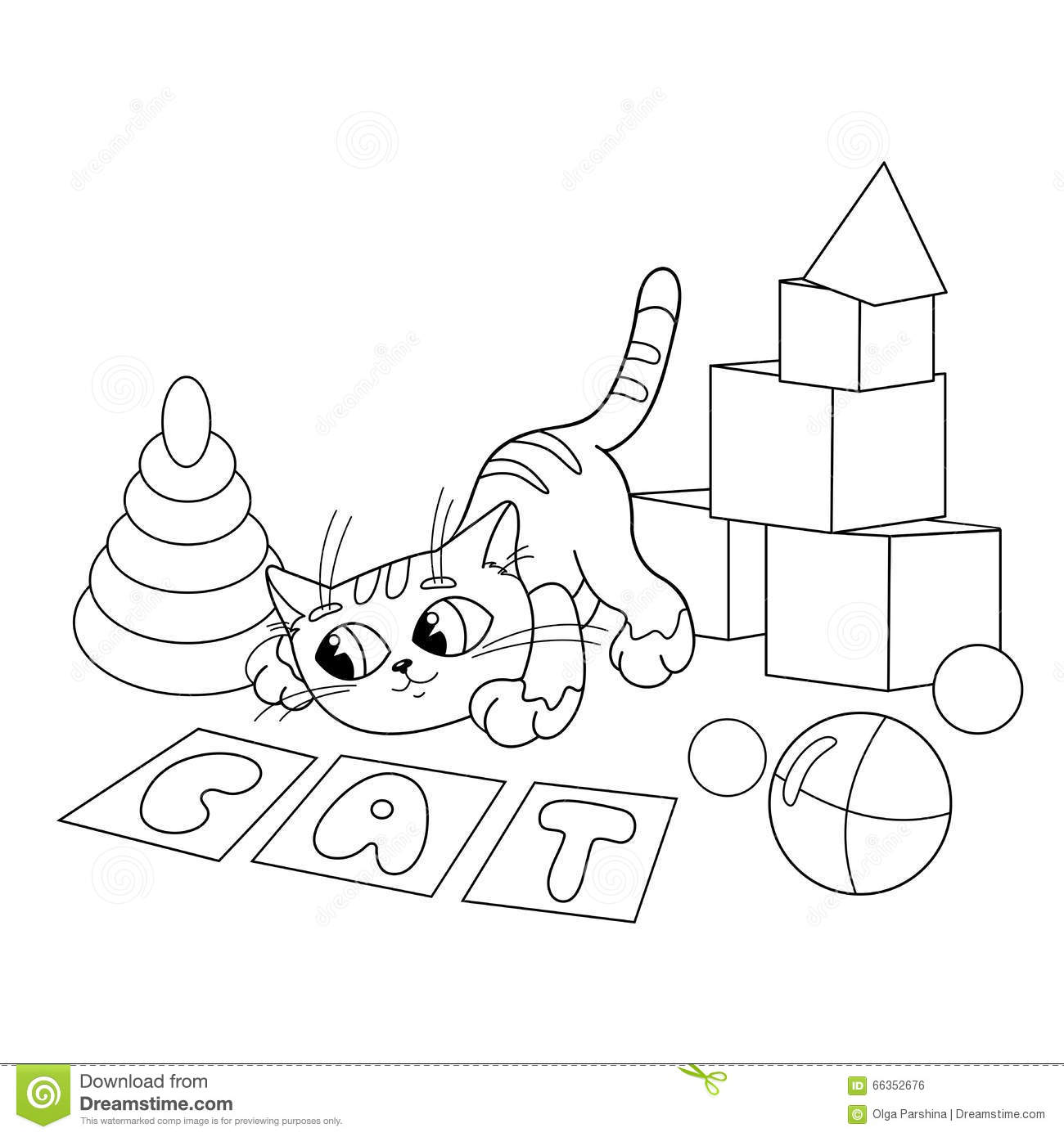 Cat Playing Drums Page Coloring Pages