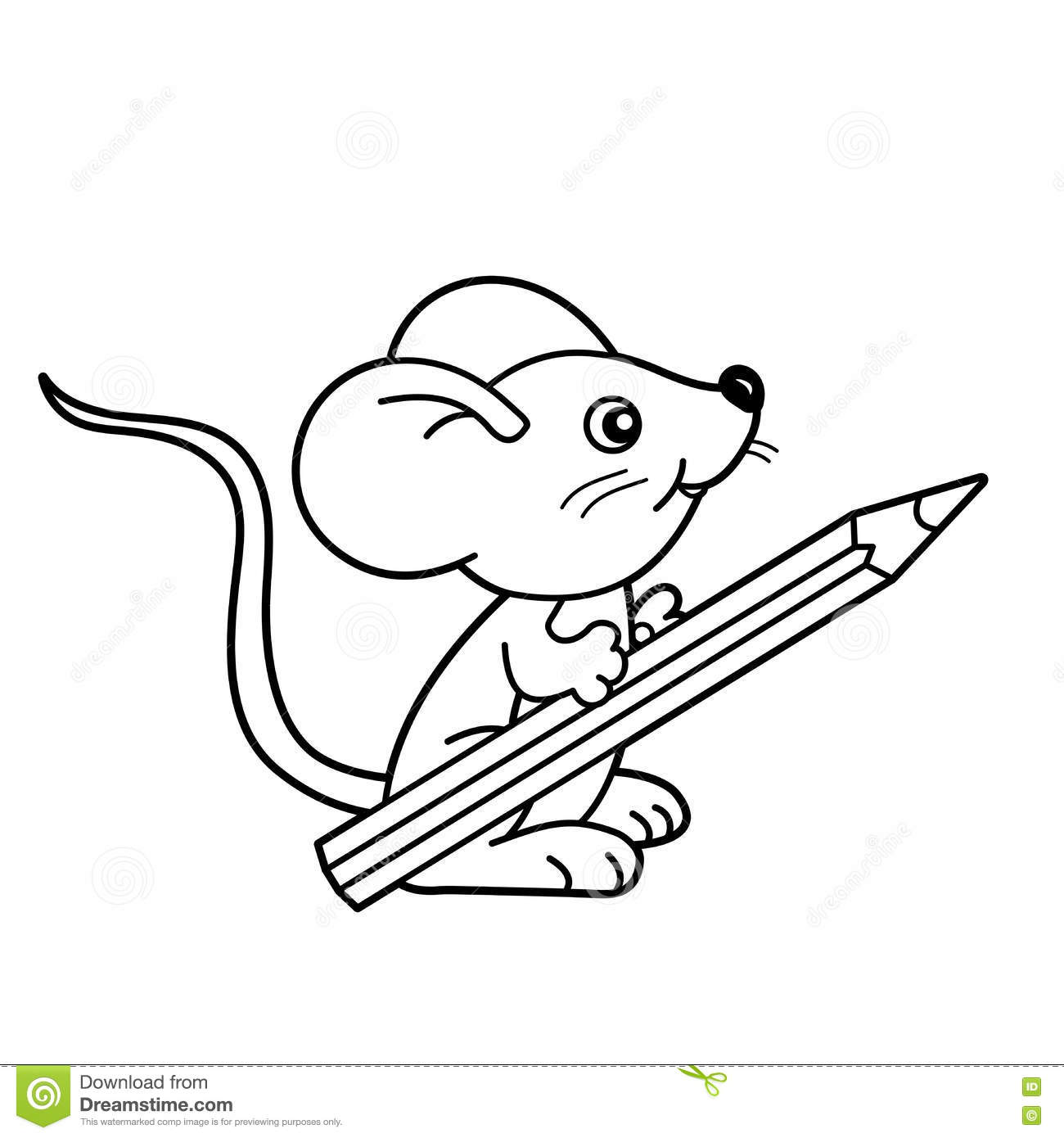 Cartoon Kids With Book And Pencil Vector Illustration