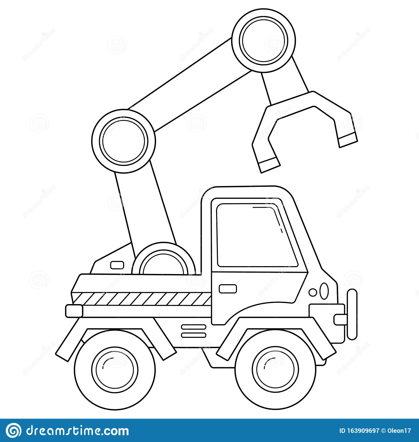 Coloring Page Outline Of Cartoon Loader Or Lift Truck