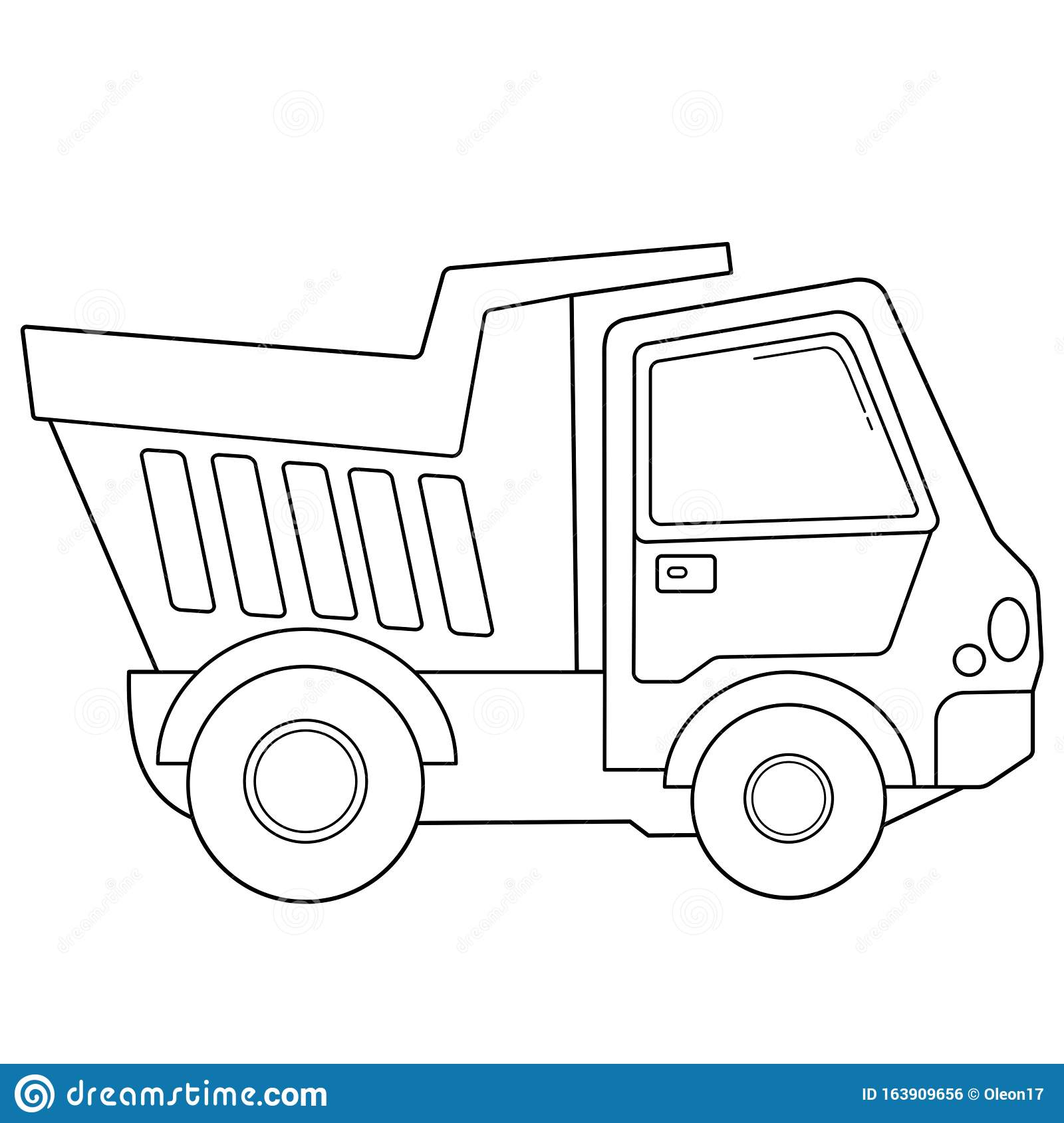 Coloring Page Outline Of Cartoon Lorry Or Dump Truck