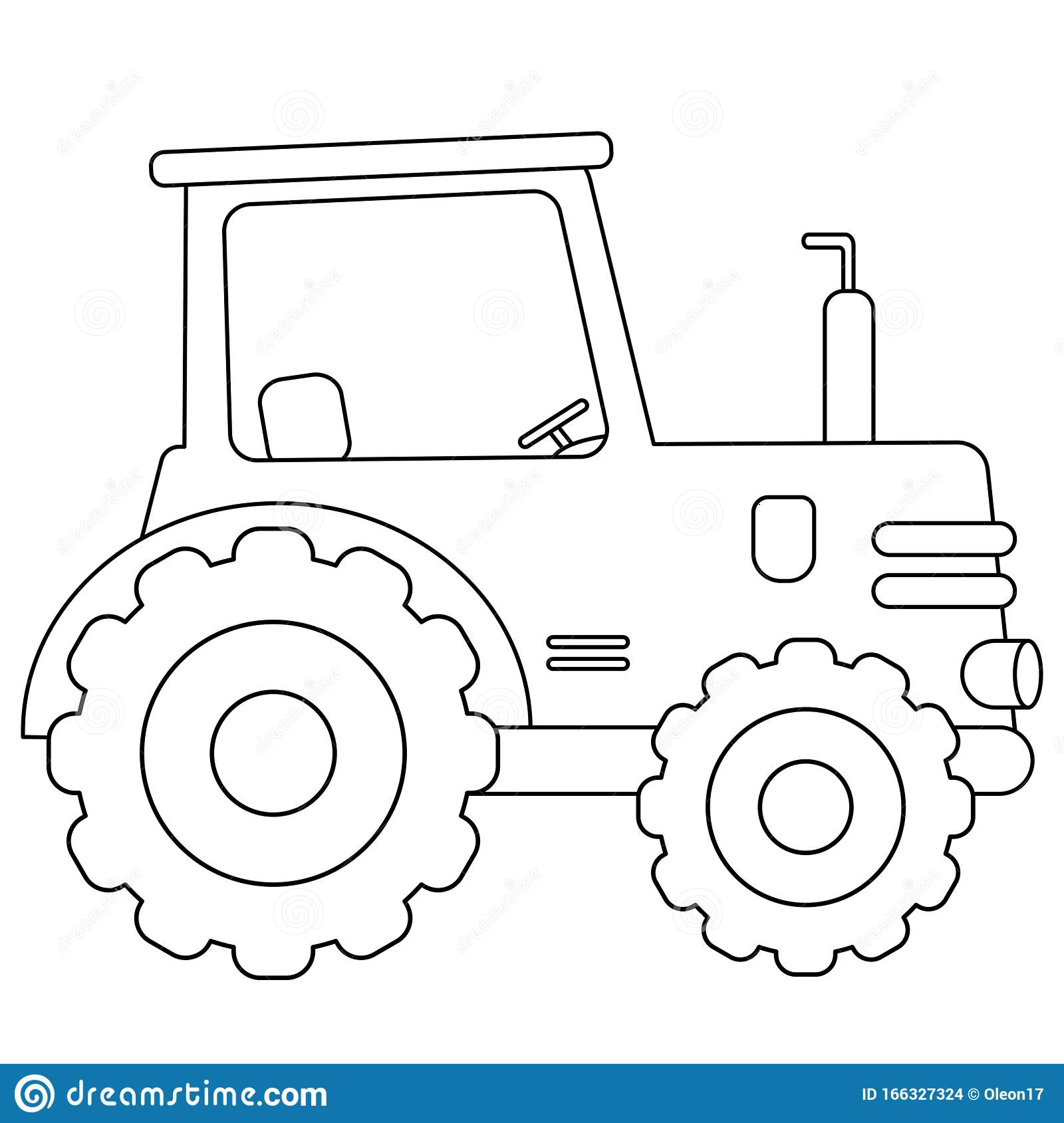 Coloring Page Outline Of Cartoon Tractor Transport Coloring Book For Kids Stock Vector Illustration Of Coloring Tractor 166327324