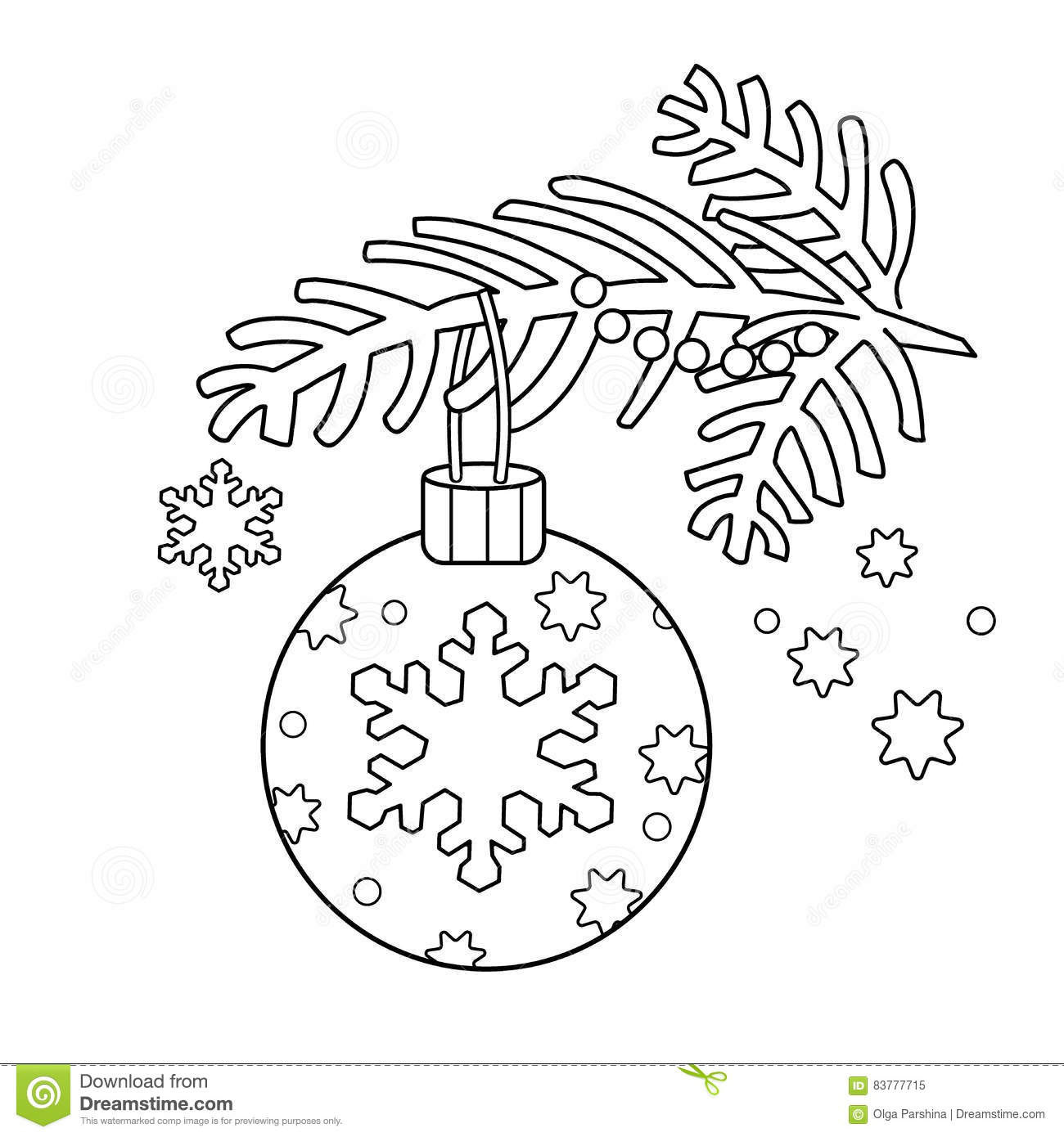 New Year Decorations Auto Electrical Wiring Diagram Daihatsu Cuore Coloring Page Outline Of Christmas Decoration