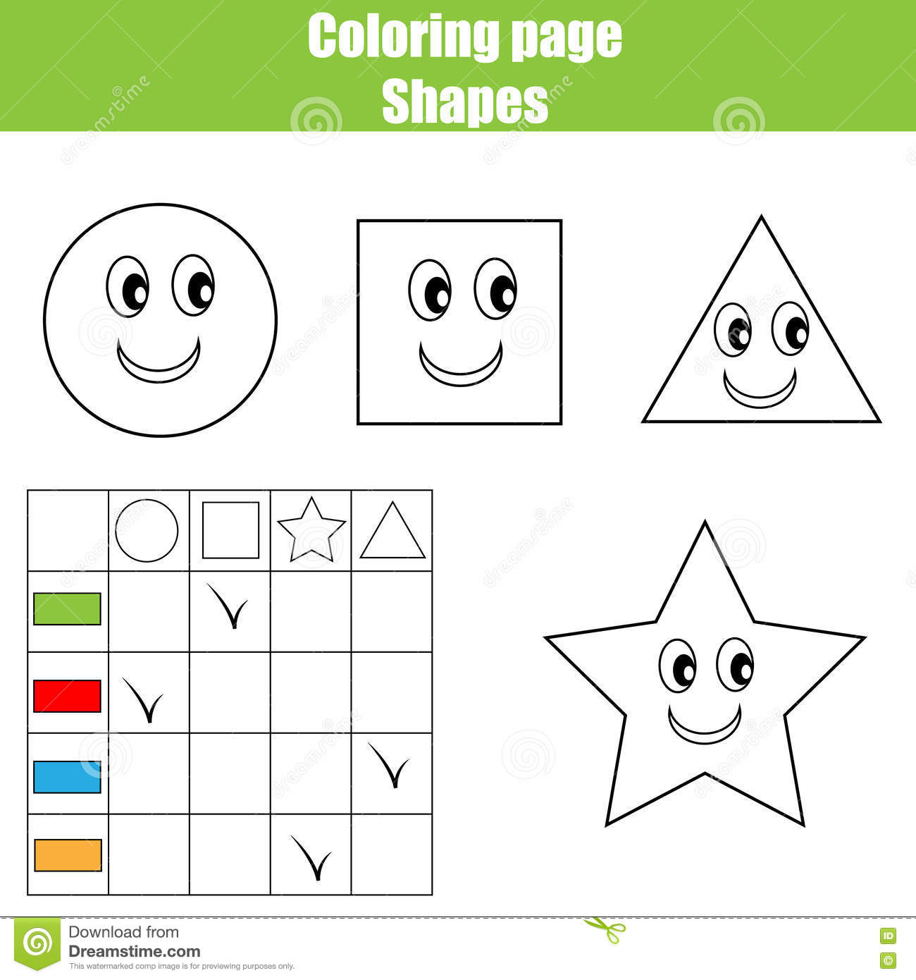 Coloring Page Practice Sheet Educational Children Game Kids Activity Printable Worksheet