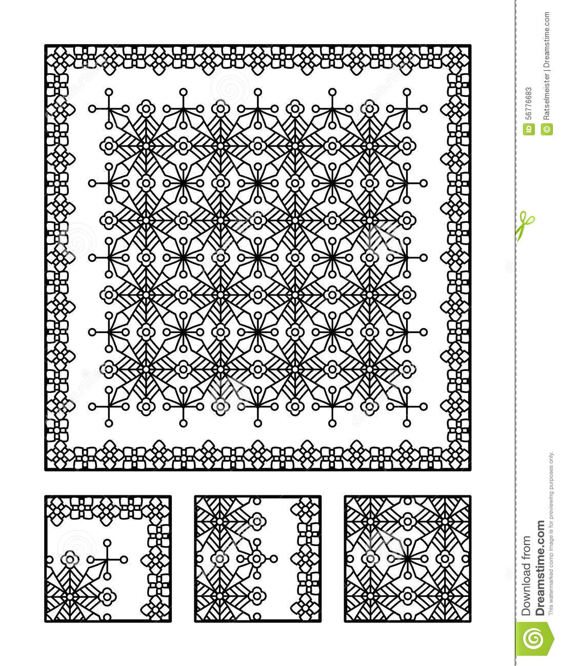 Coloring Page And Visual Puzzle For Adults Stock Vector