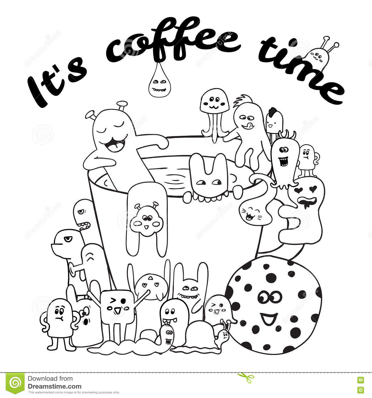 Coloring Pages For Adults Book Black And White Hipster
