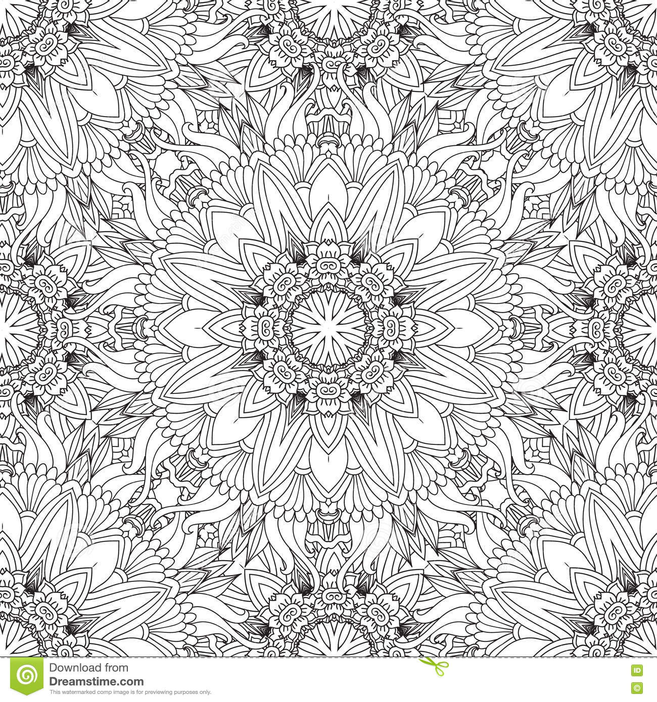 Coloring Pages For Adultscorative Hand Drawn Doodle Nature Ornamental Curl Vector Sketchy
