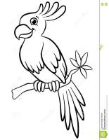 Coloring Pages. Birds. Little Cute Parrot. Stock Vector ...