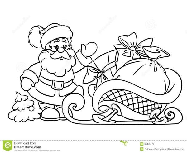 coloring pages of santa claus # 14