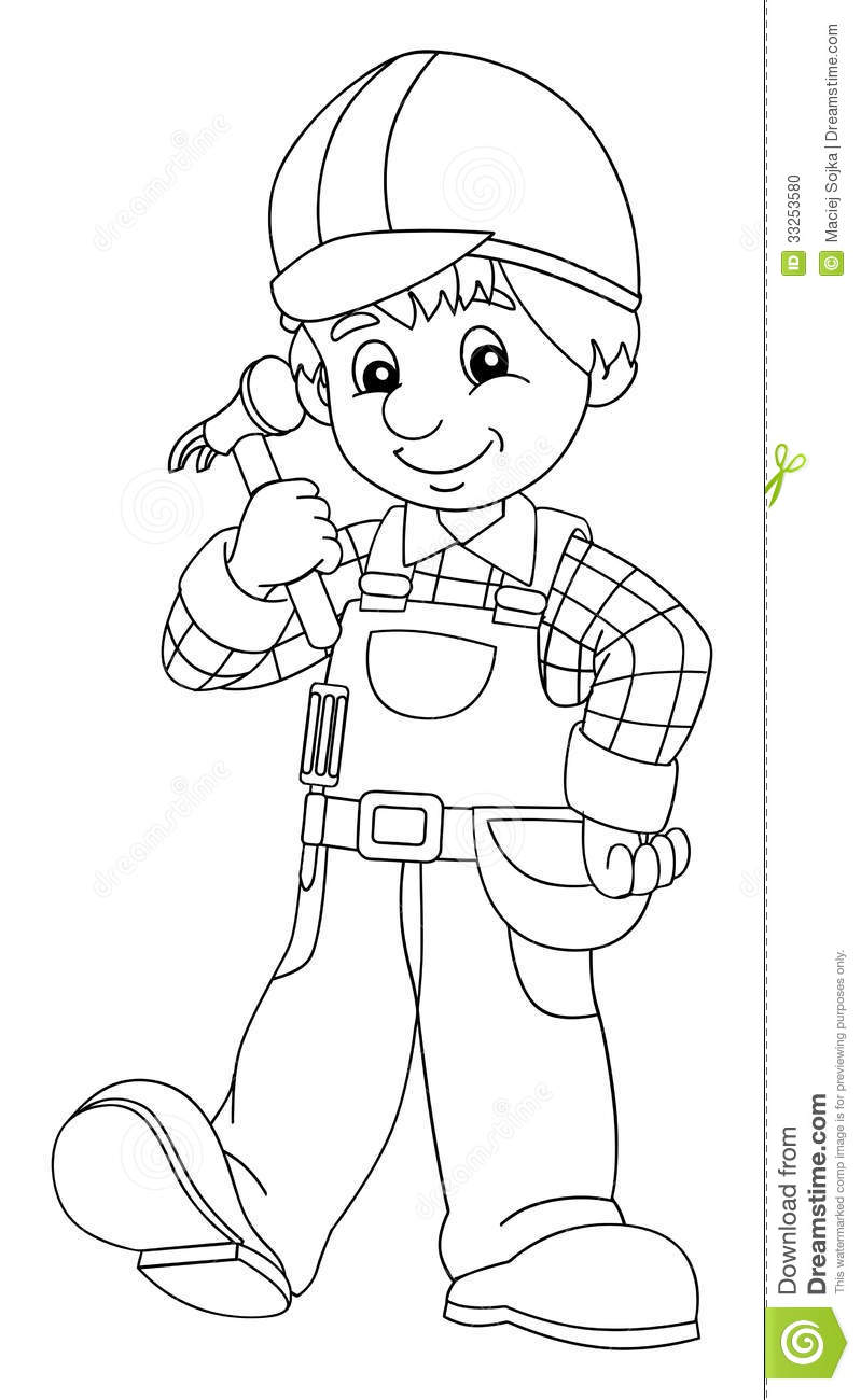 Construction Workers: Construction Workers Coloring Pages