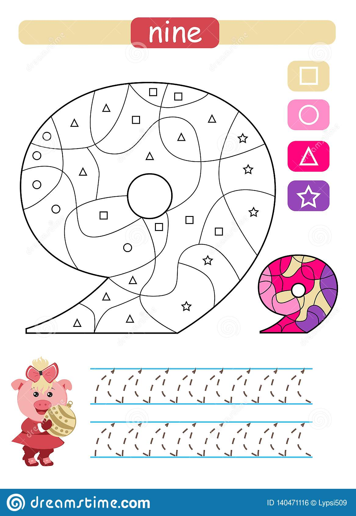 Simple Coloring Sheets For Kindergarten