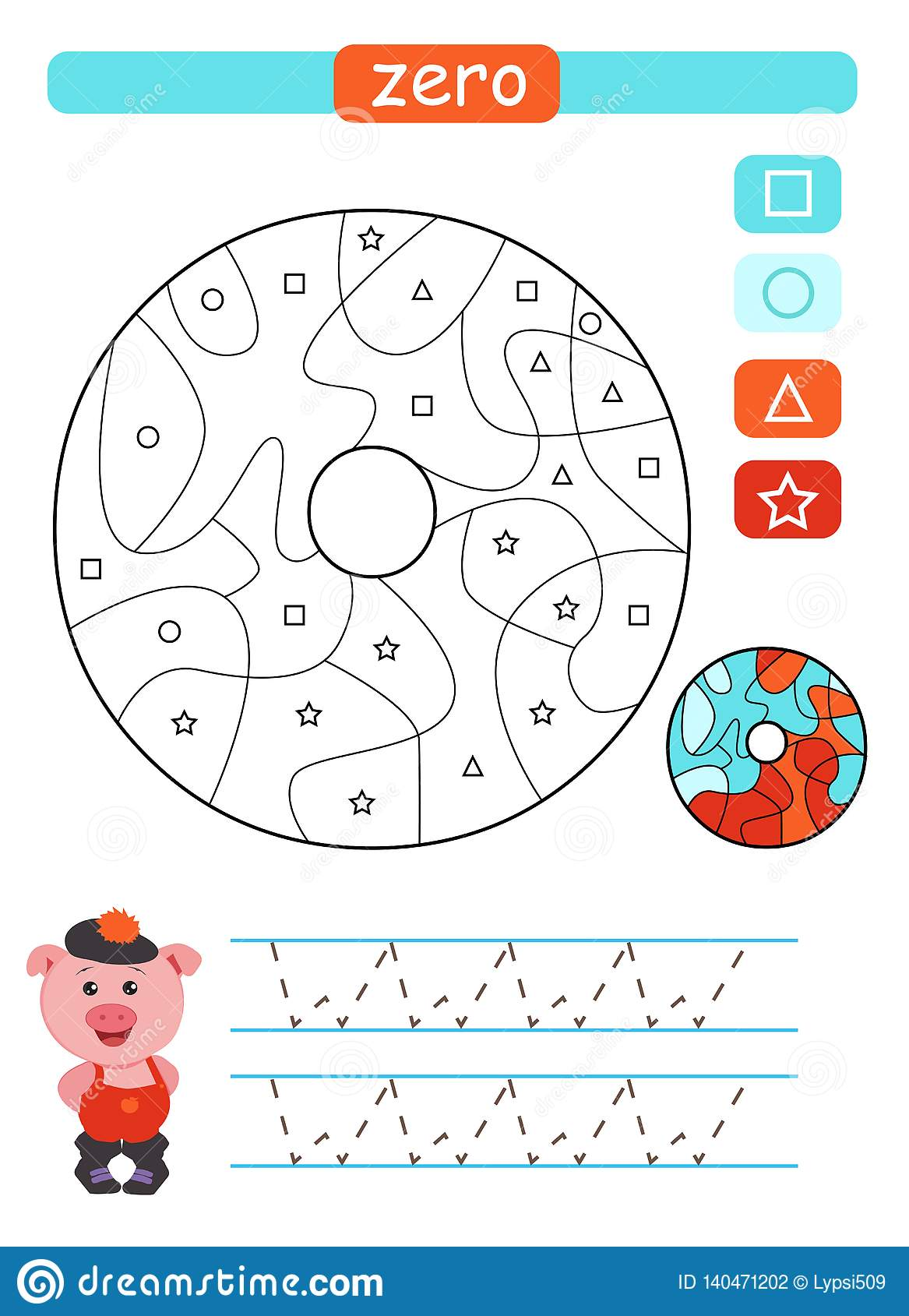 Coloring Printable Worksheet For Kindergarten And