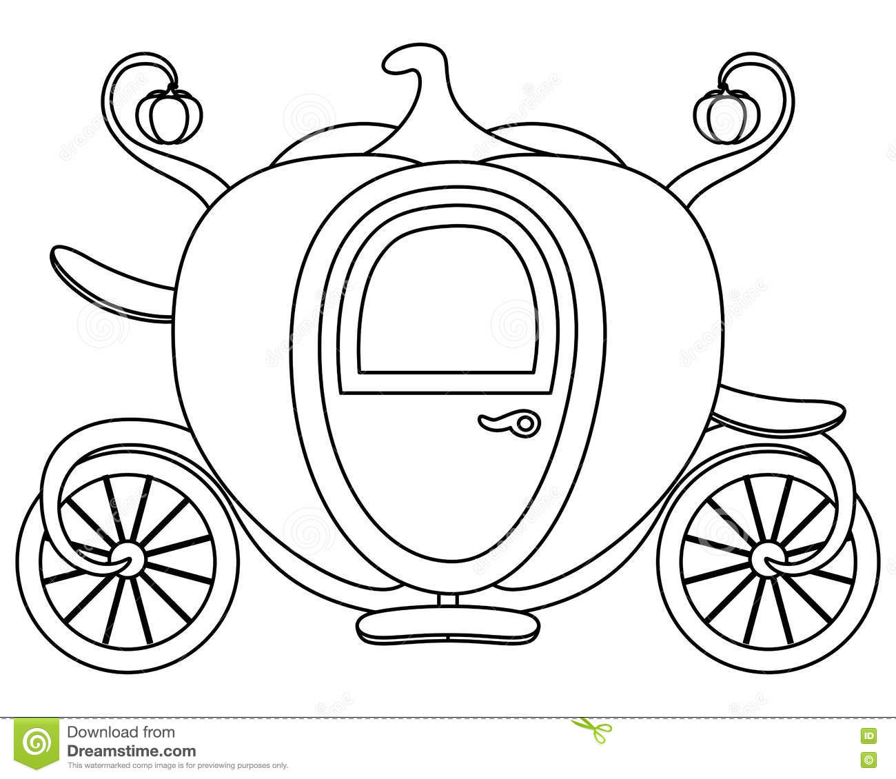 Cinderella Pumpkin Carriage Coloring Sheets Pictures To