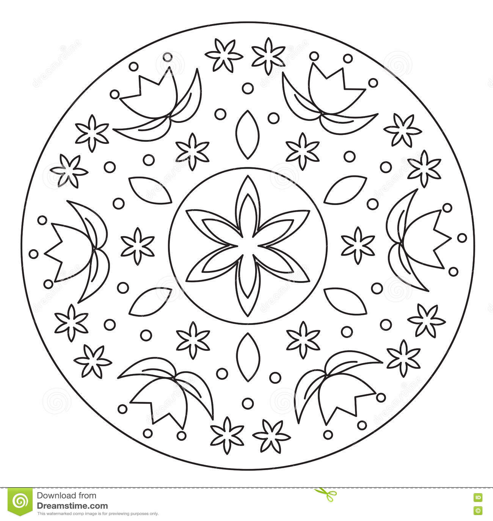 Ornament Of Simple Mandala. Vector Illustration