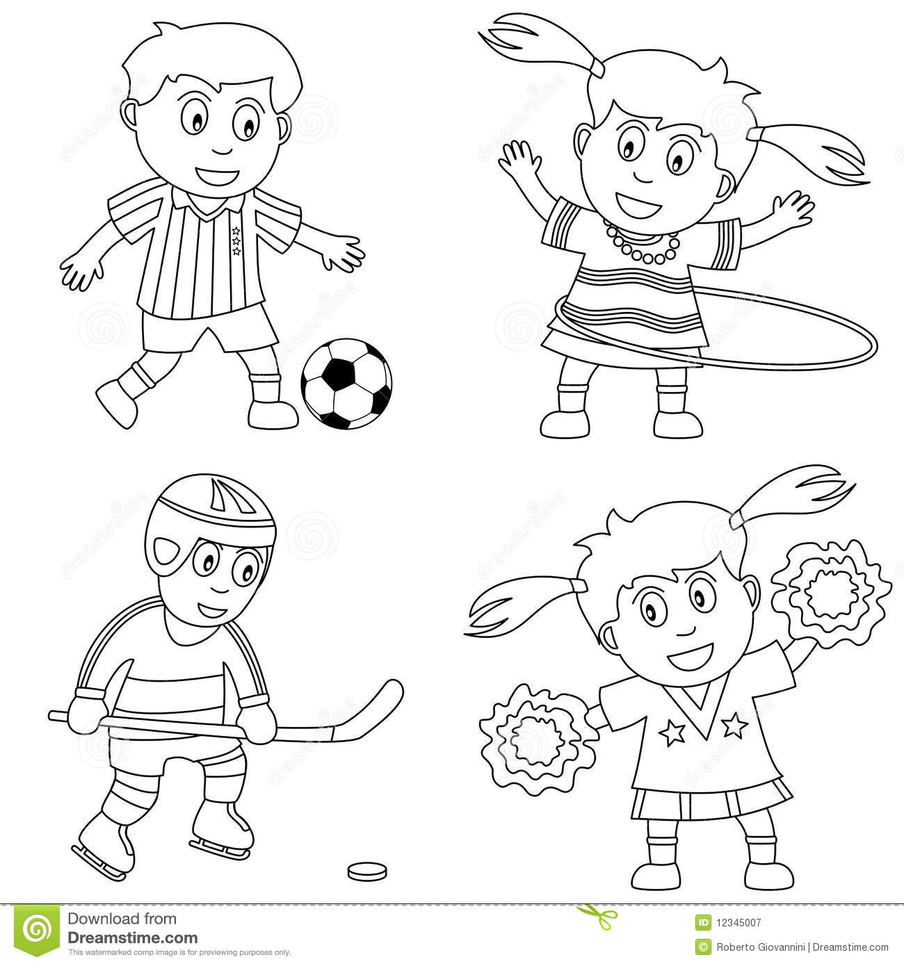 Coloring Sport For Kids 2 Stock Vector