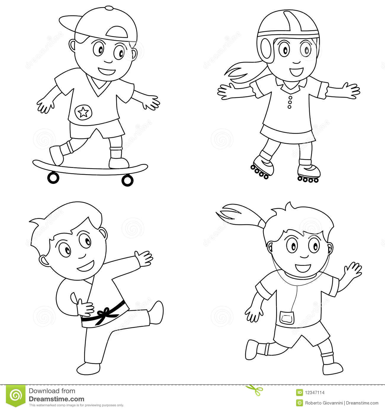 Coloring Sport For Kids 4 Stock Vector