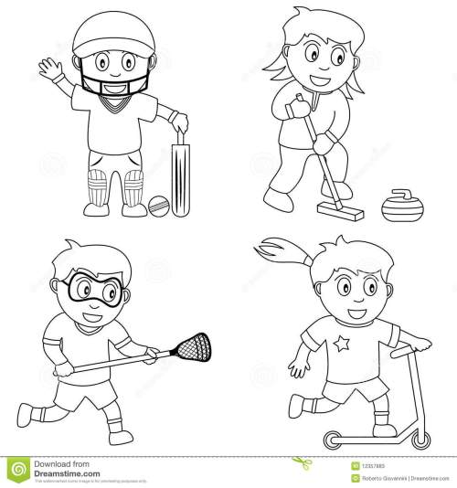 small resolution of coloring sport for kids 6