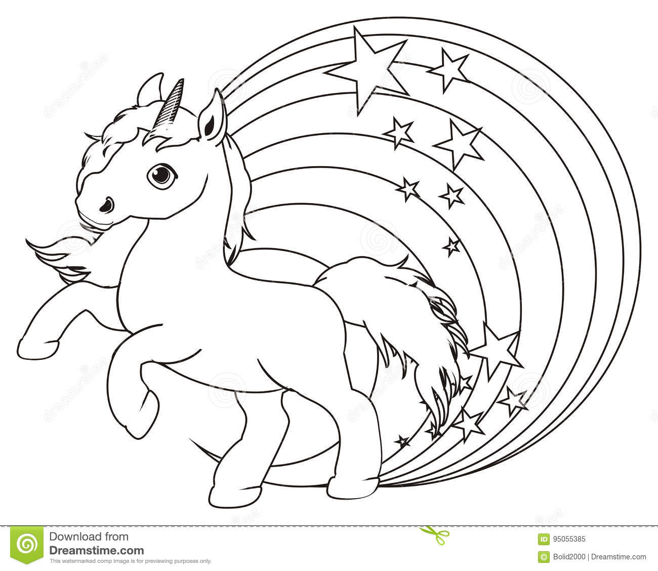 Unicorn Rainbow Coloring Pages - Free Coloring Page