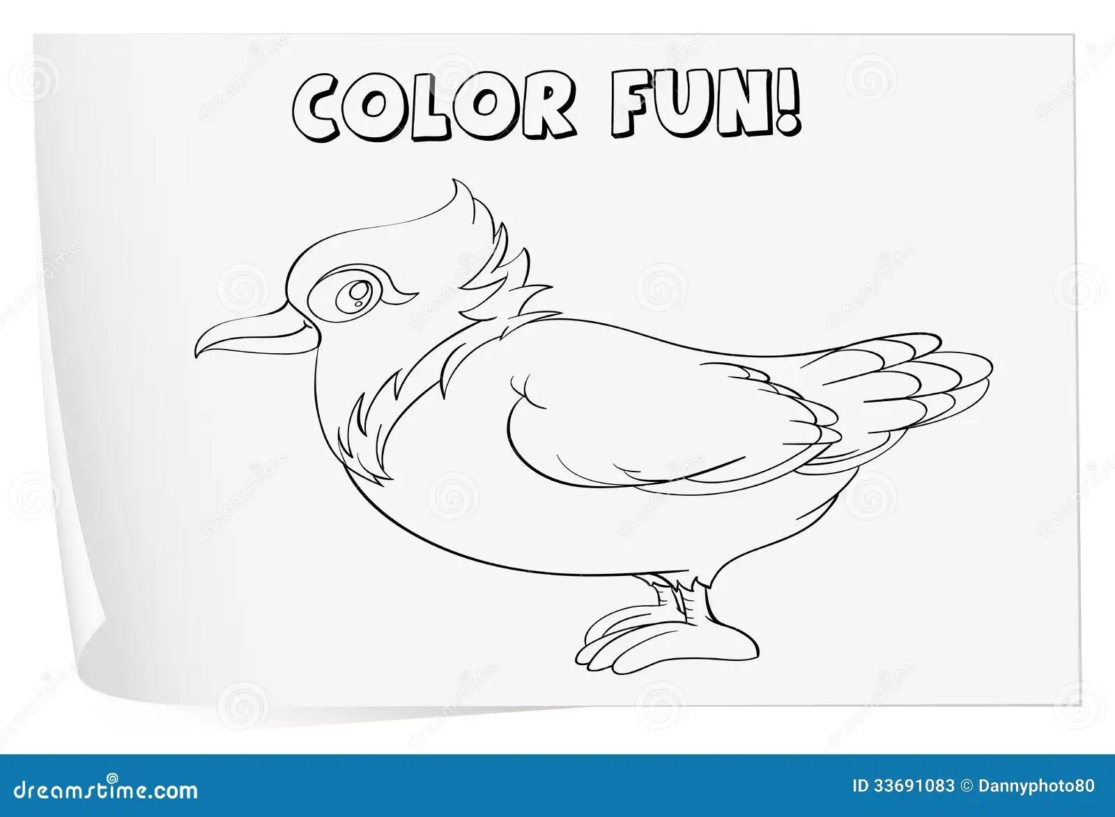 Coloring worksheet stock illustration. Illustration of