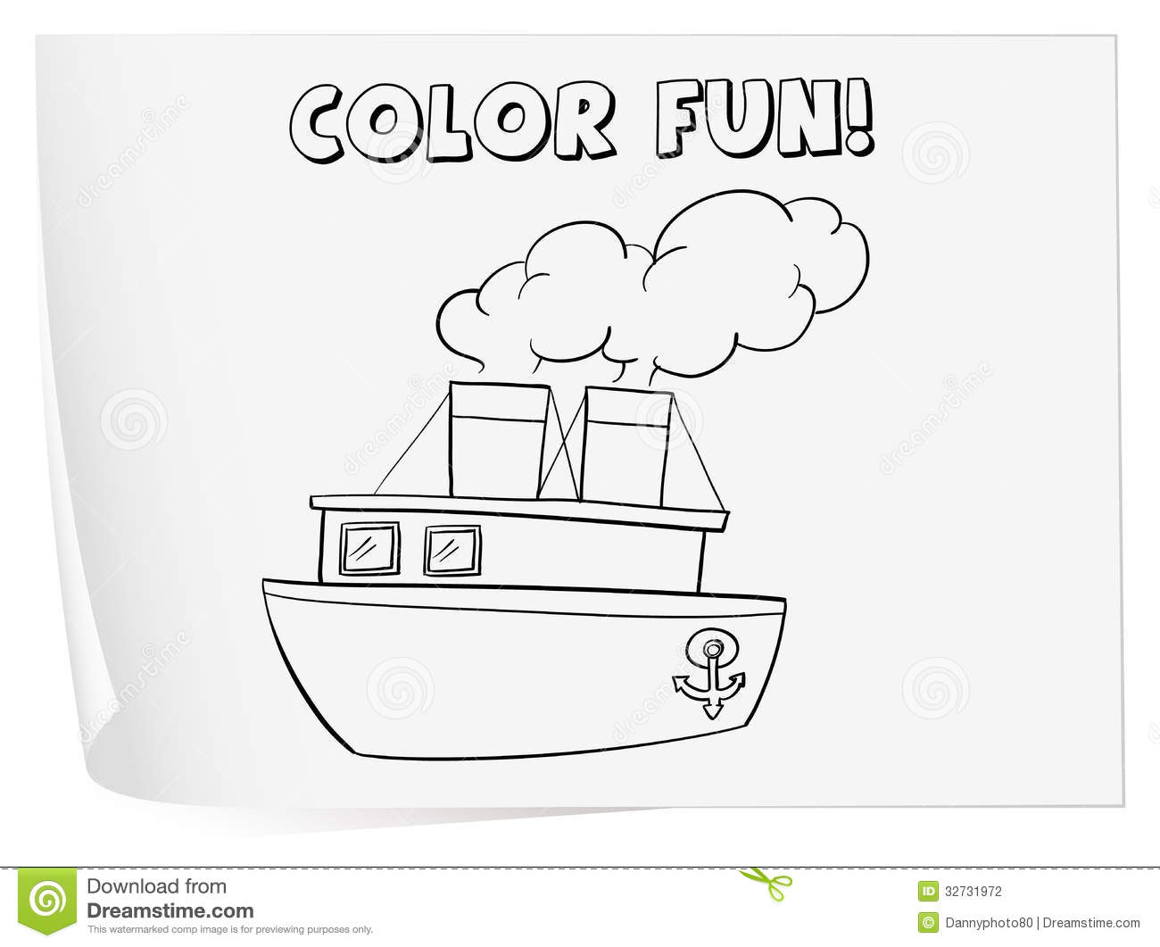 Coloring Worksheet Stock Photography