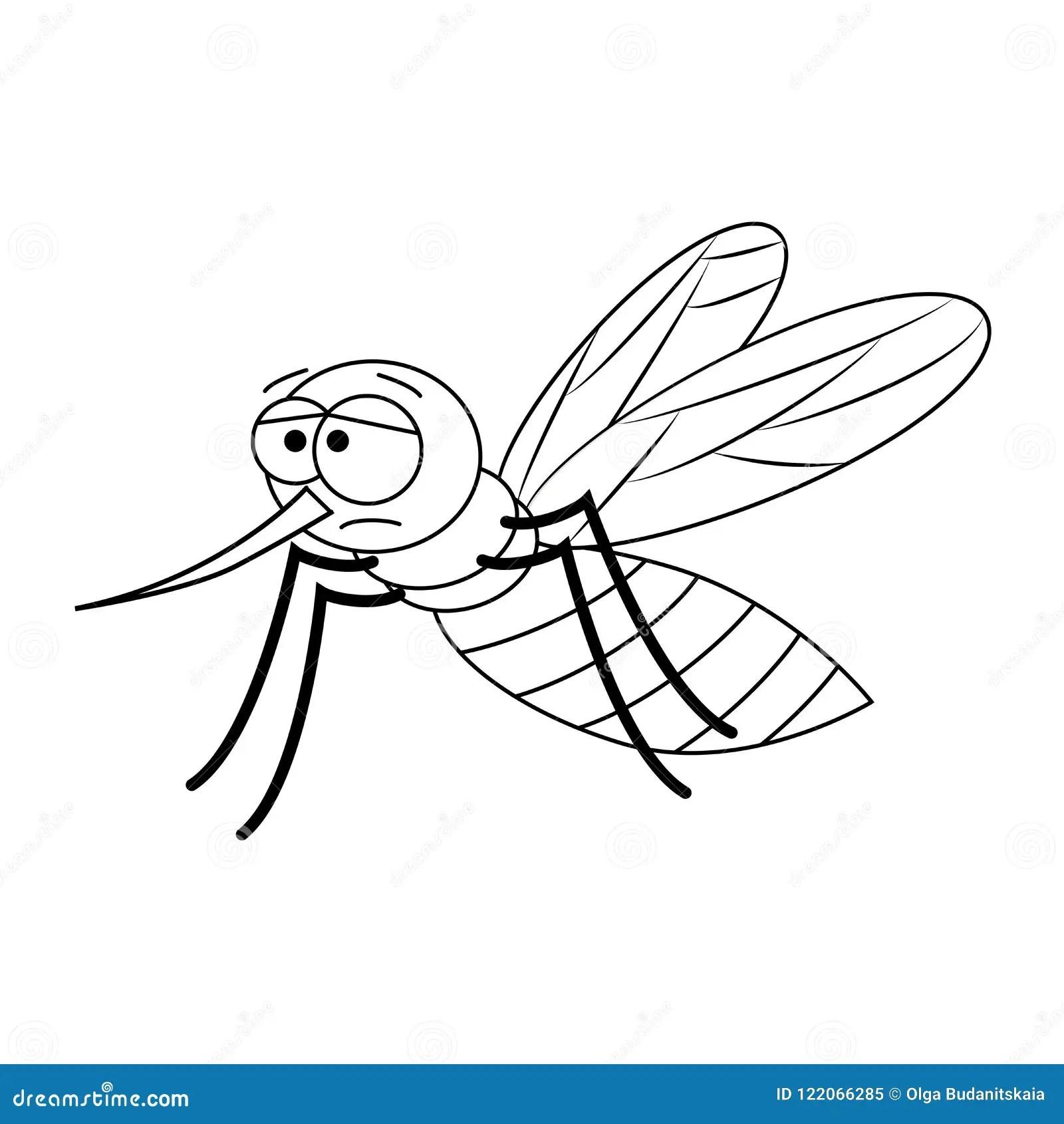 Cartoon Mosquito Clip Art Vector Illustration