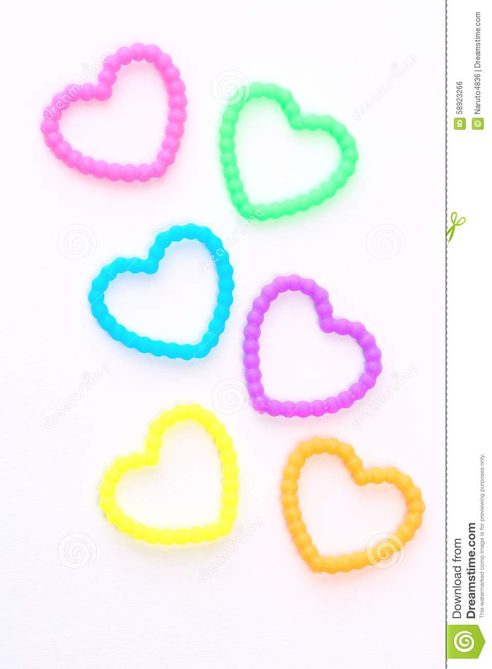 Hearts With Rubber Royalty Free Stock Photo
