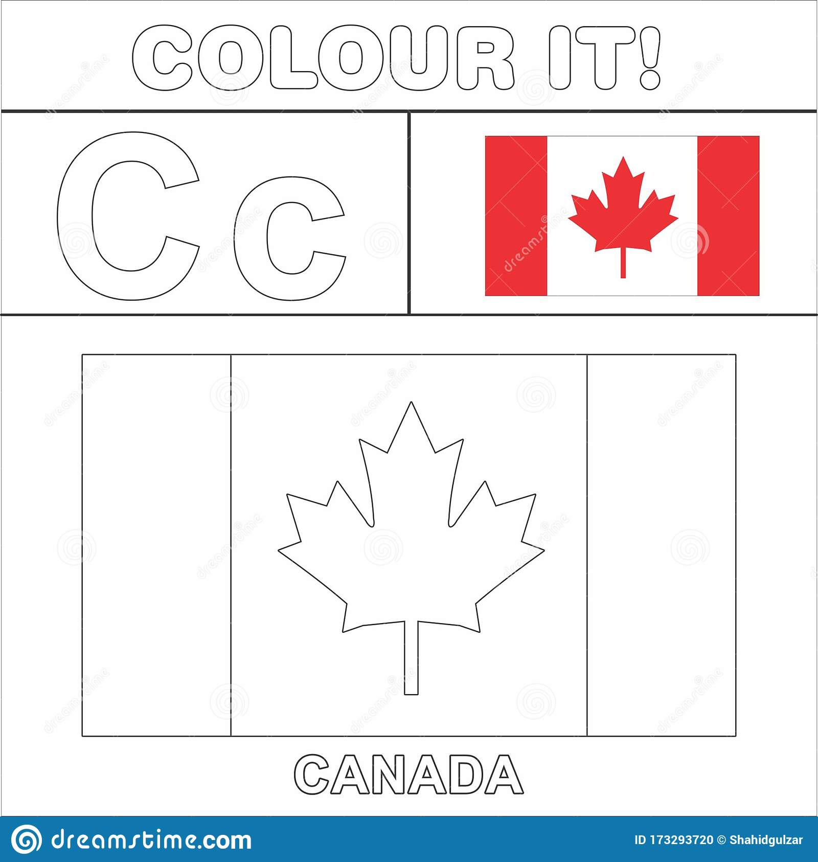 Colour It Kids Colouring Page Country Starting From