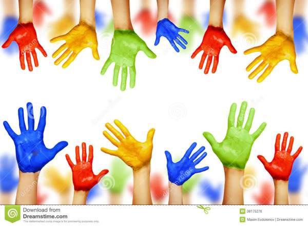 Colourful Hands Royalty Free Stock Image Image 38175276