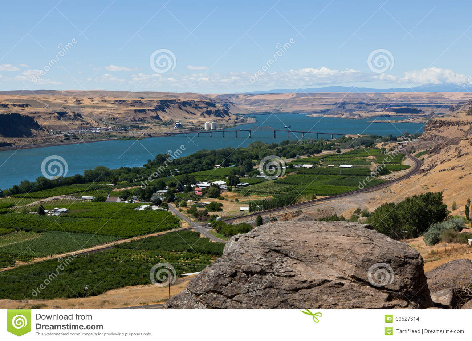 Columbia River Landscape Stock Images