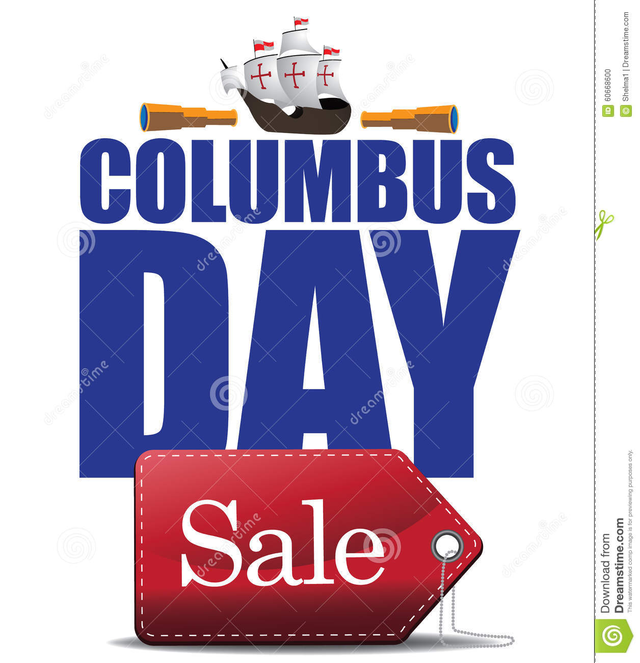 Columbus Day Sale Design Stock Vector Image Of Flag