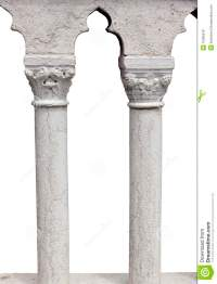 Columns Of Balcony Isolated With Clipping Path Royalty ...