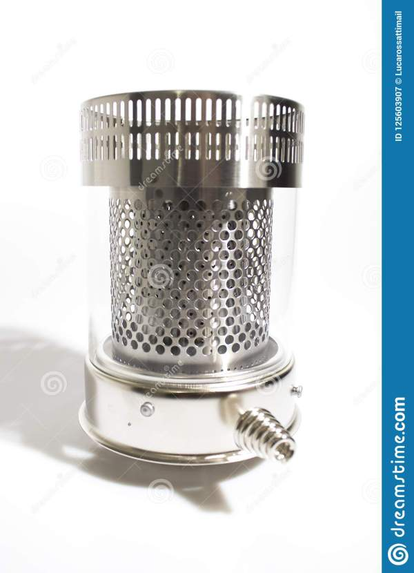 Combustion Chamber Of Kerosene Heater In White