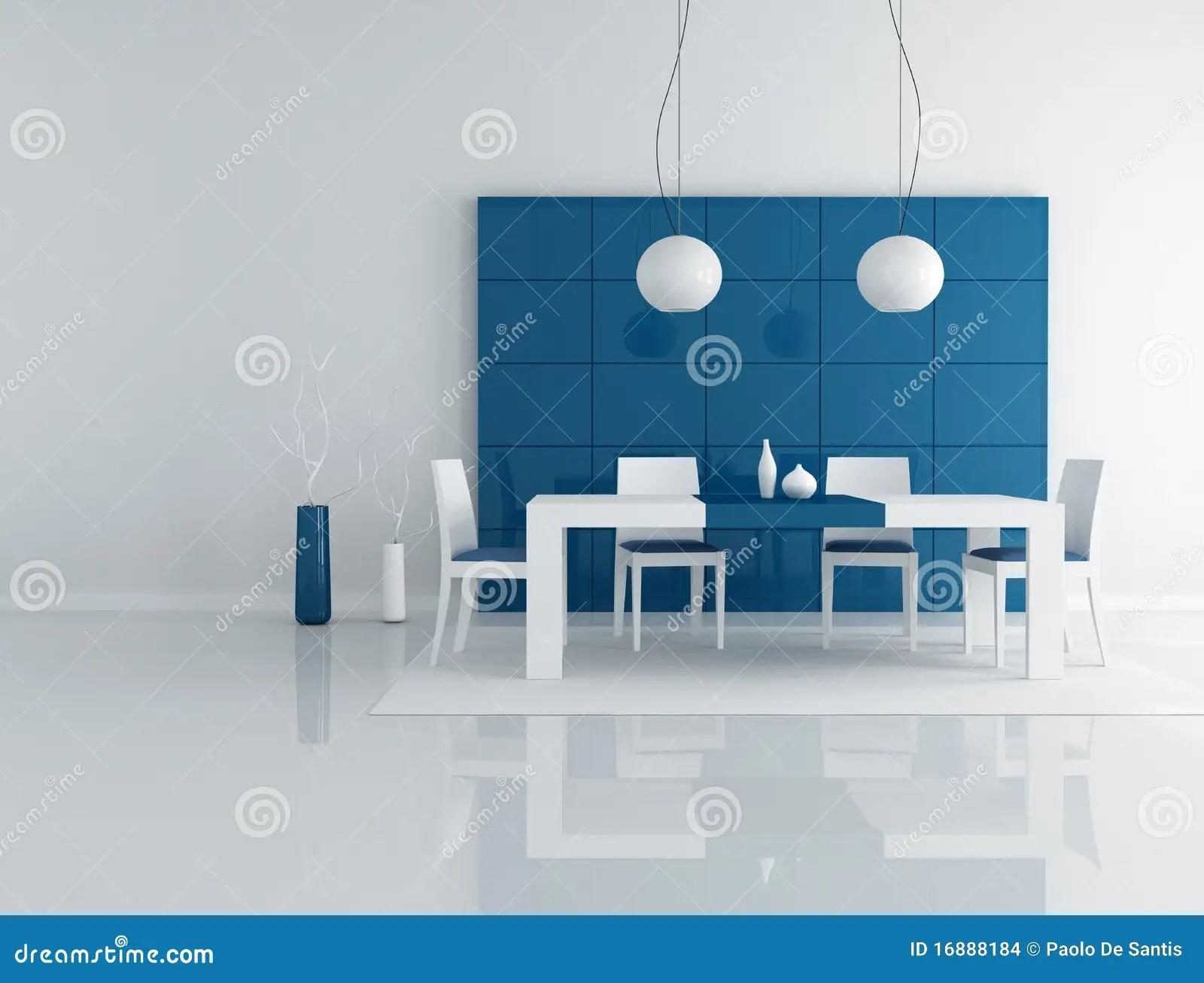 Comedor Azul Imagenes de archivo  Imagen 16888184