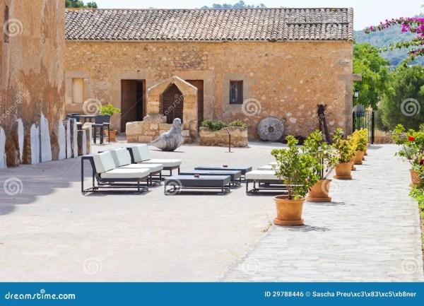 Spanish Interior Courtyard Royalty Free Stock