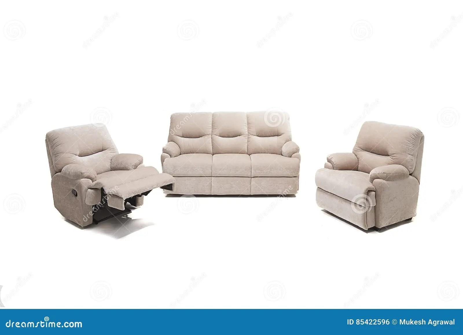 beige colour sofa set masoli beautiful leather color on a white royalty free