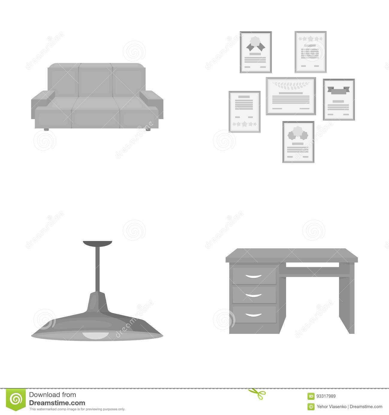 overhead sofa floor lamp white set up comfortable letters and diplomas within the