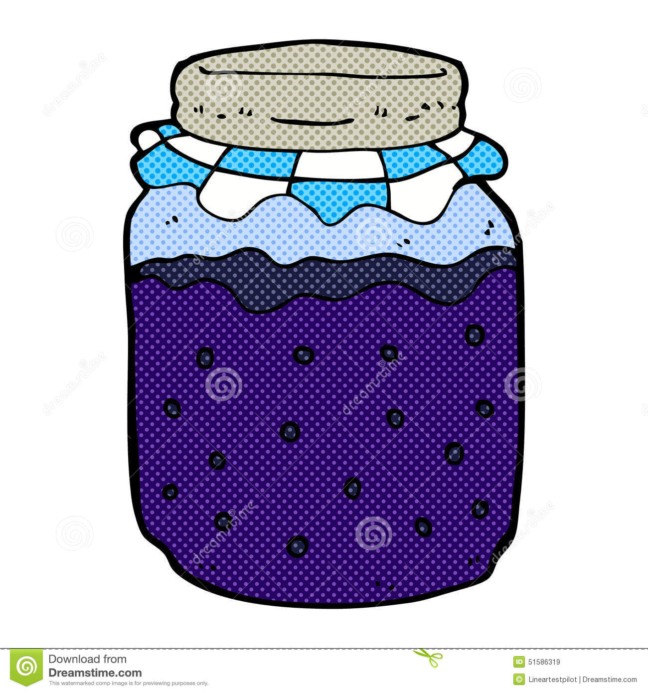 Comic Cartoon Jam Jar Stock Illustration  Image 51586319