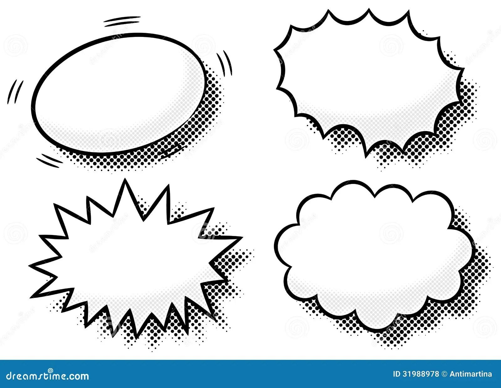 Comic Effect Bubbles Stock Vector Illustration Of Element