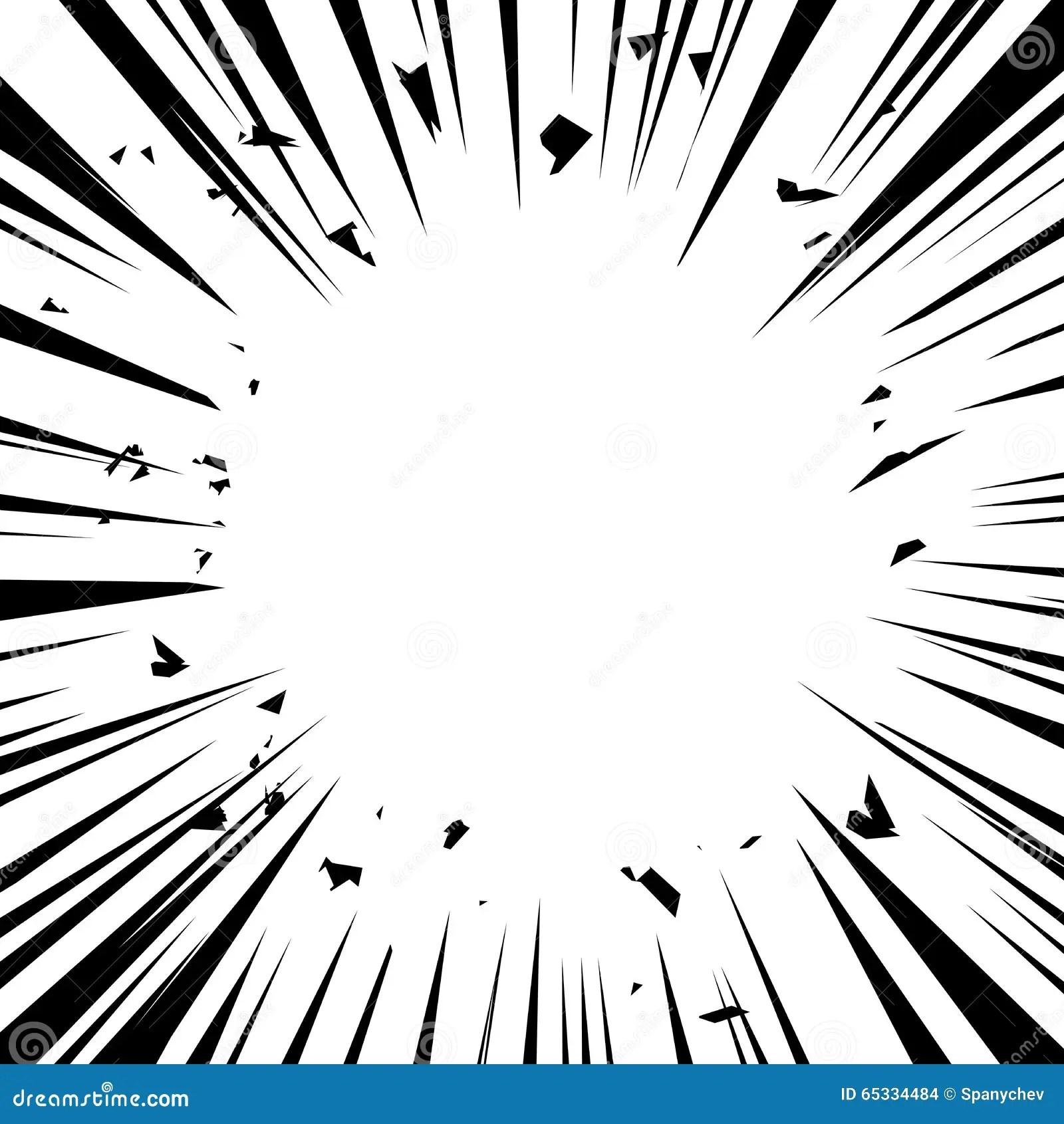 Comic Explosion Vector Illustration Comic Book Design